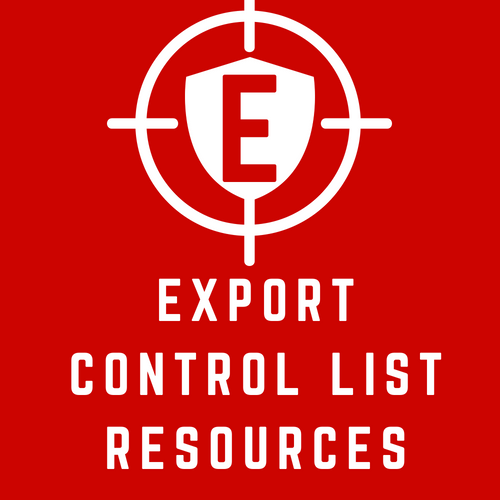 Government export control list